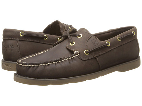 Sperry Top-Sider - Leeward (Dark Brown) Women's Slip on  Shoes