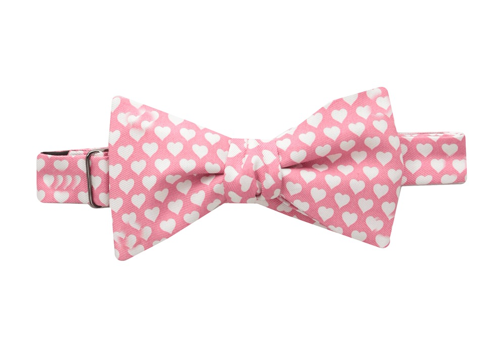 Vineyard Vines - Hearts Printed Bow Tie (Light Pink) Ties