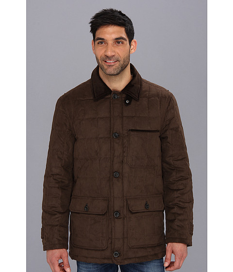Rainforest - Micro Suede Quilted Hipster (Hawk) Men's Coat