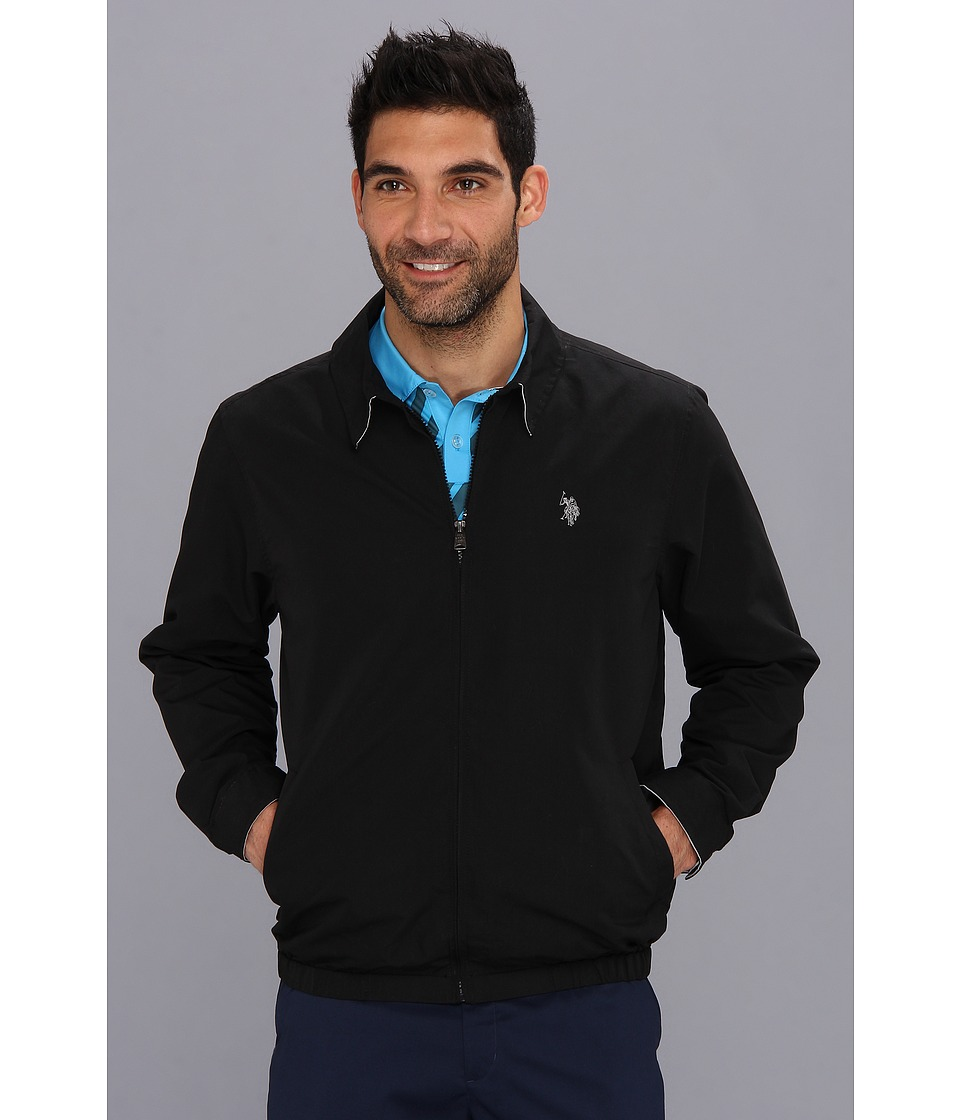 U.S. POLO ASSN. - Mico Golf Jacket Small Pony (Black) Men