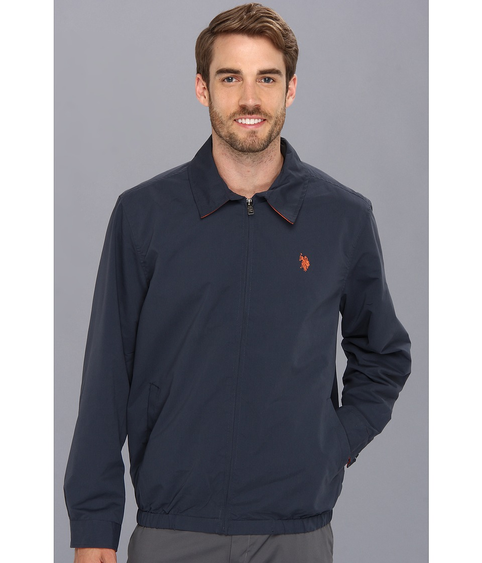 U.S. POLO ASSN. - Mico Golf Jacket Small Pony (Cl Navy) Men's Jacket