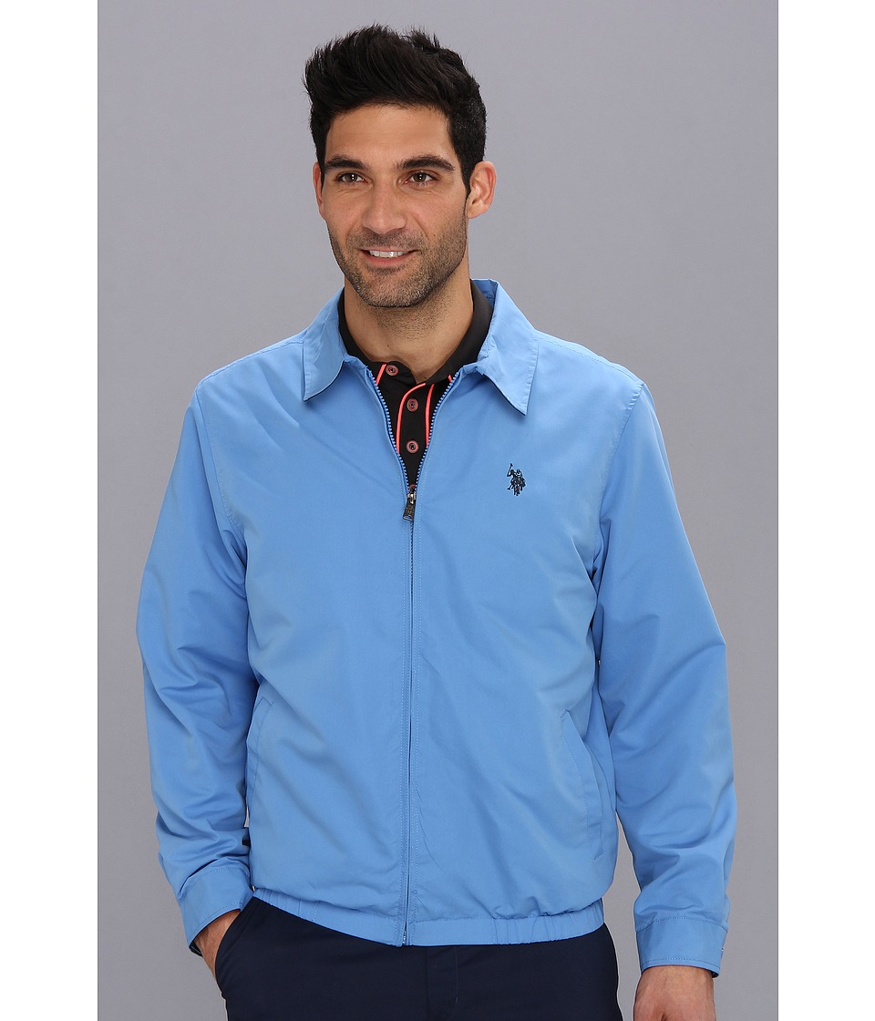 U.S. POLO ASSN. - Mico Golf Jacket Small Pony (Regatta Blue) Men's Jacket