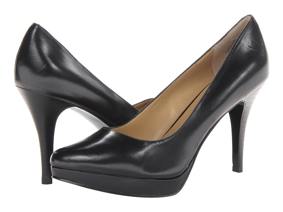 Nine West - Prisilla (Black Leather) High Heels