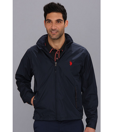 U.S. POLO ASSN. - Fleece Lined Golf Jacket with PU Piping (Cl Navy) Men