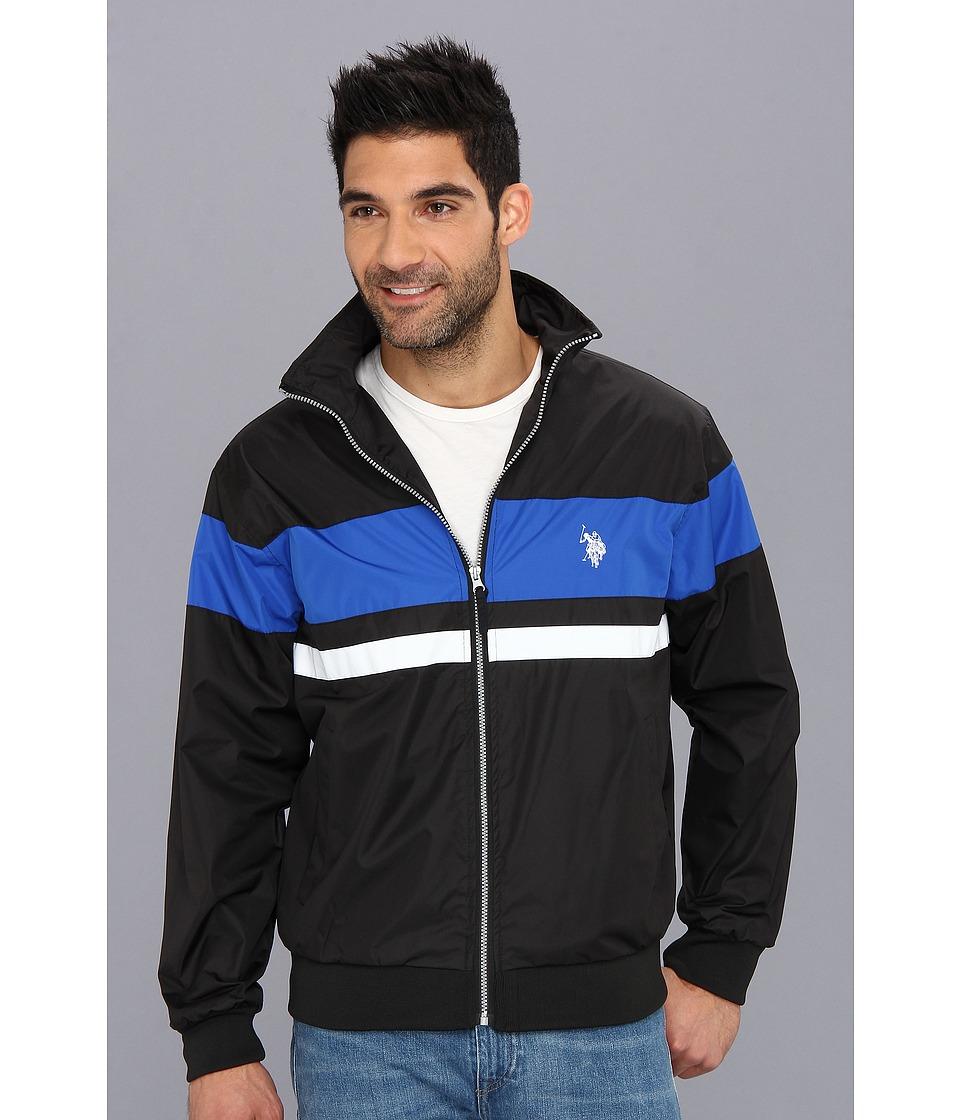 U.S. POLO ASSN. - Bar Stripe Wind Jacket (Black) Men