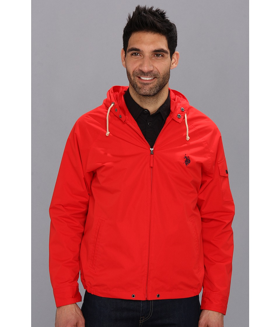 U.S. POLO ASSN. - Hooded Windbreaker (Engine Red) Men