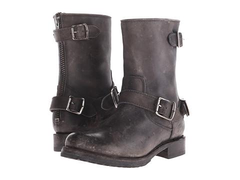 Frye - Veronica Back Zip Short (Stone Stonewash) Cowboy Boots