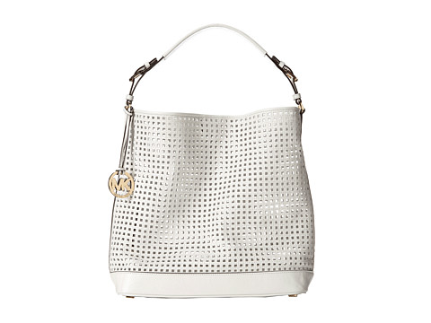 MICHAEL Michael Kors Bridget Large Shoulder (Optic White) Shoulder Handbags