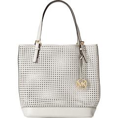 MICHAEL Michael Kors Bridget Large Tote (Optic White) Tote Handbags