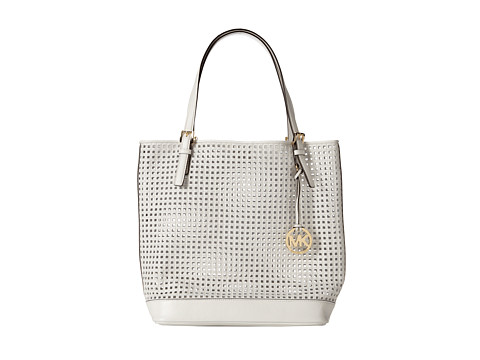 MICHAEL Michael Kors Bridget Large Tote (Optic White) Tote Handbags