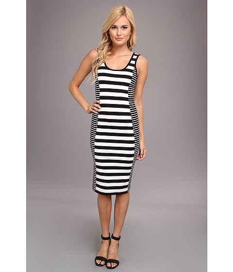 Sanctuary - Graphic Bodycon (Black/White) Women's Dress