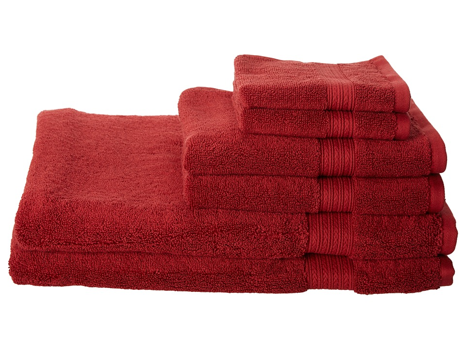 Kassatex - Kassadesign 6 Piece Towel Set (Garnet Red) Bath Towels