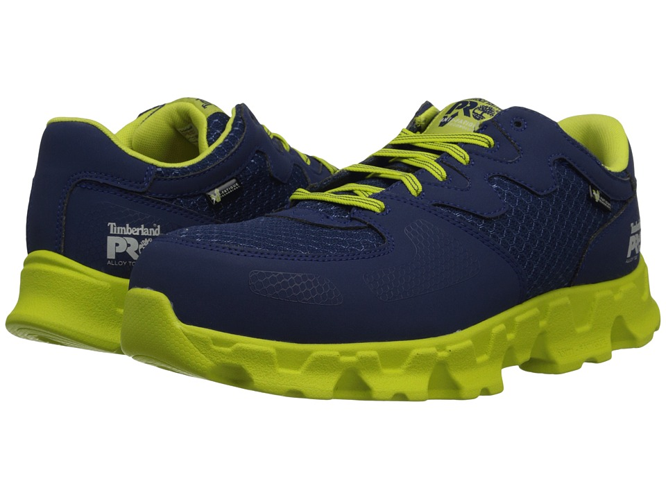 Timberland PRO - Power Train (Navy/Green) Men's Work Boots