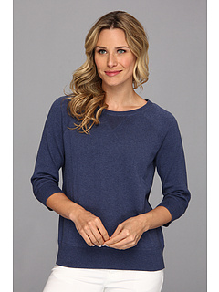 SALE! $20.99 - Save $28 on Jones New York 3 4 Sleeve Crew Neck w Cvst (Medium Denim Heather) Apparel - 57.16% OFF $49.00