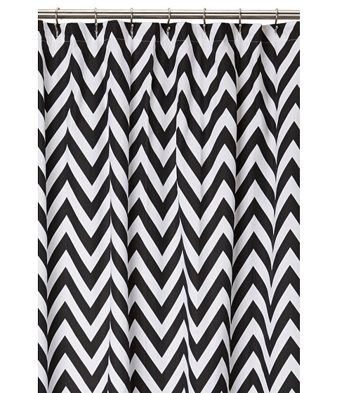 Kassatex - Chevron Shower Curtain (Black/White) Sheets Bedding