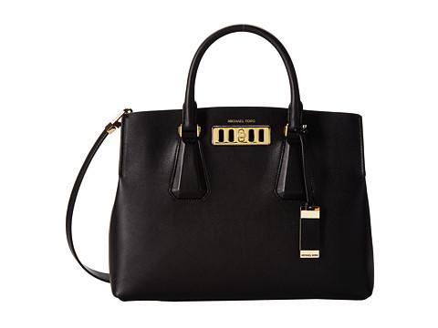 Michael Kors Collection Vivian Large Satchel (Black) Satchel Handbags