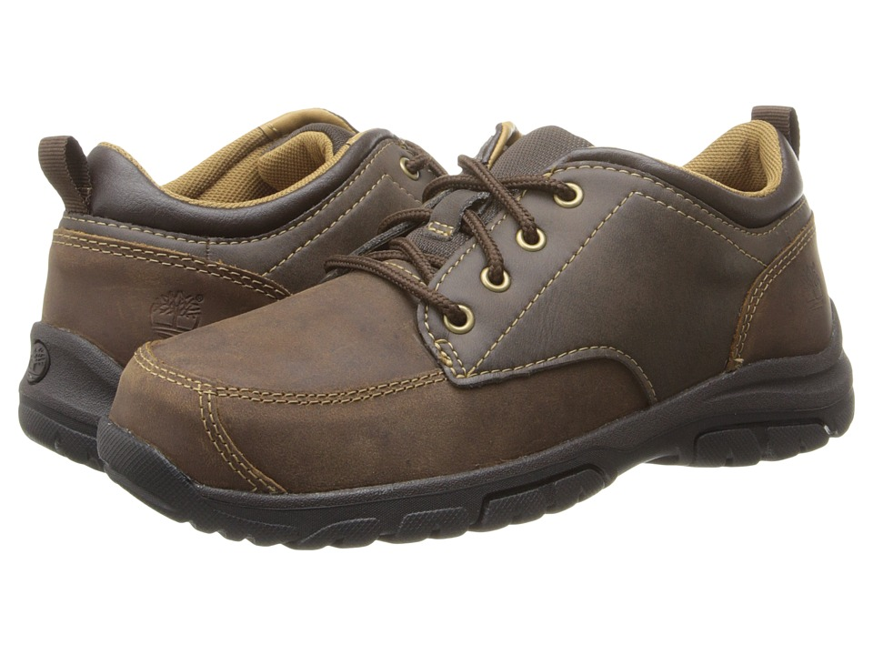 Timberland Kids - Discovery Pass Oxford (Little Kid) (Brown) Boys Shoes