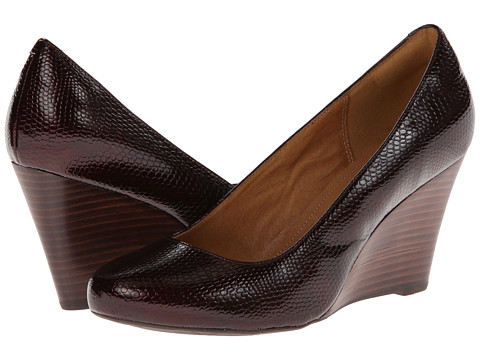 Clarks - Purity Crystal (Burgundy Patent Snake Leather) Women's Shoes