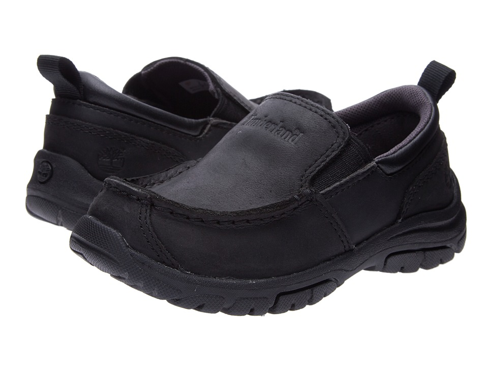 Timberland Kids Discovery Pass Slip-On (Toddler/Little Kid) (Black) Boys Shoes