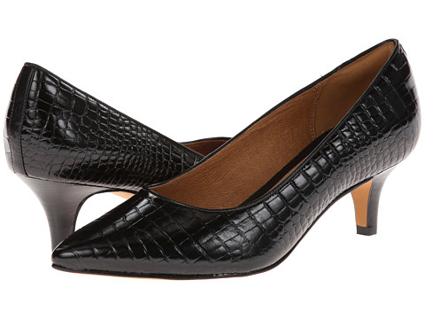 Clarks - Sage Copper (Black Croco Leather) Women's 1-2 inch heel Shoes