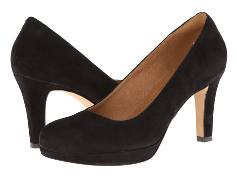 Clarks - Delsie Bliss (Black Suede) Women's Shoes