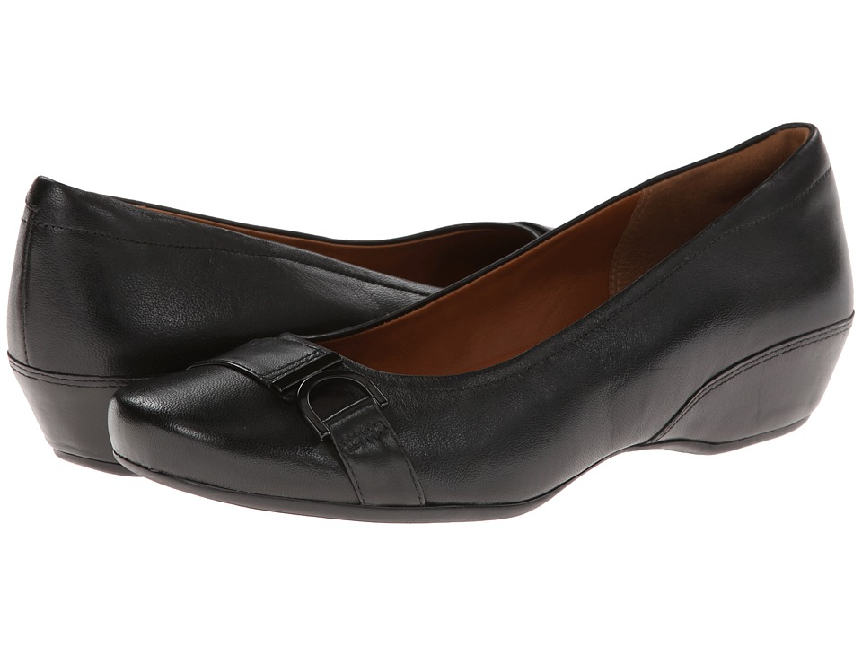 Clarks - Concert Band (Black Leather) Women's Shoes