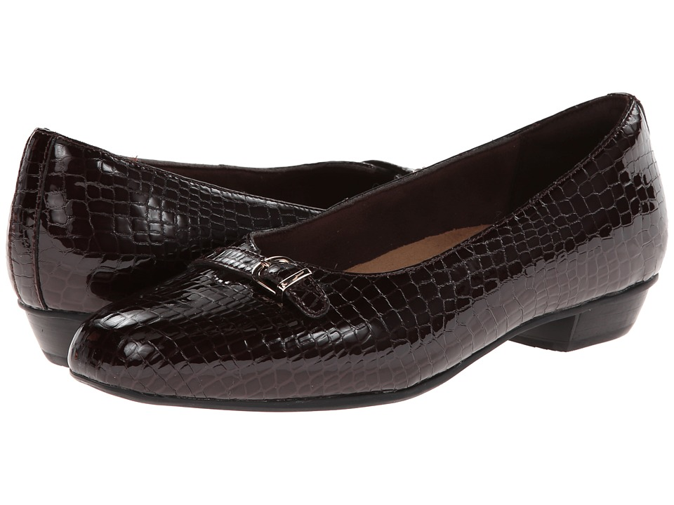 Clarks - Caswell Genoa (Burgundy Patent) Women's Shoes