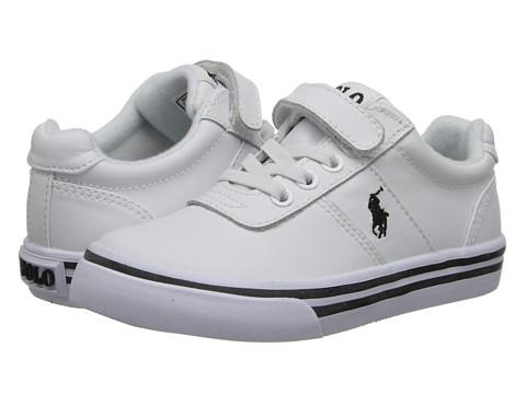 Polo Ralph Lauren Kids - Hanford EZ (Toddler) (White Leather) Boy