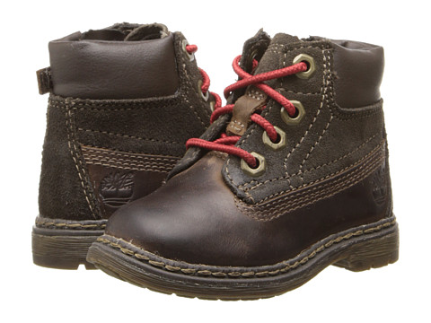 Timberland Kids - Earthkeepers Amesbury 6 Plain Toe (Toddler/Little Kid) (Dark Brown) Boys Shoes
