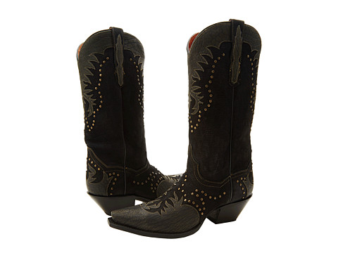 Dan Post - Invy (Black Distressed) Cowboy Boots
