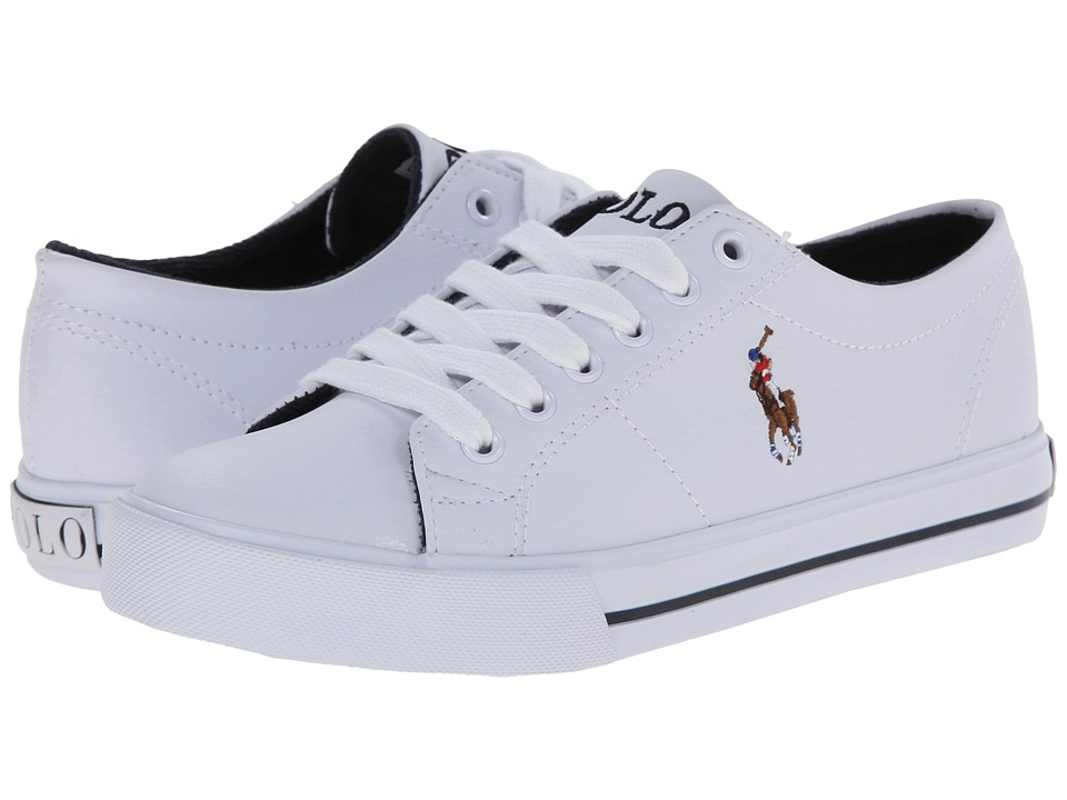 Polo Ralph Lauren Kids - Scholar (Toddler) (White Tumbled/Multi Pony Player) Boy's Shoes