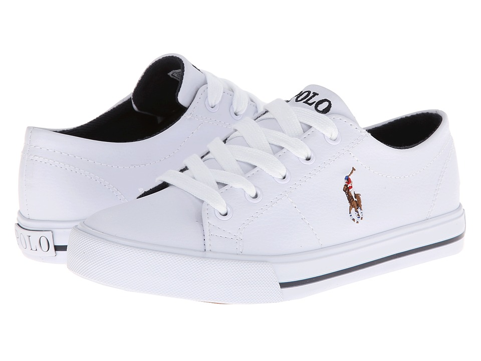 Polo Ralph Lauren Kids - Scholar (Little Kid) (White Tumbled/Multi Pony Player) Boy's Shoes