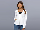 DKNY Jeans Geometric Lace Zip Front Hoodie