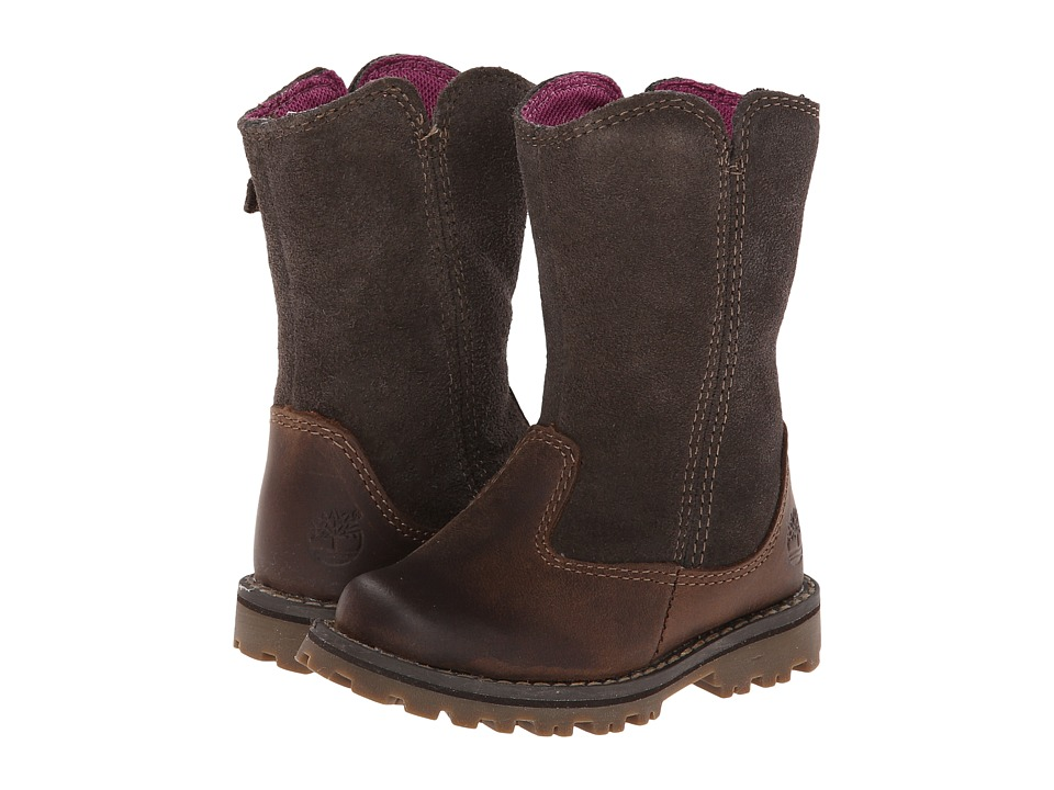 Timberland Kids - Earthkeepers Asphalt Trail Skyhaven Tall Boot (Toddler/Little Kid) (Brown) Girls Shoes