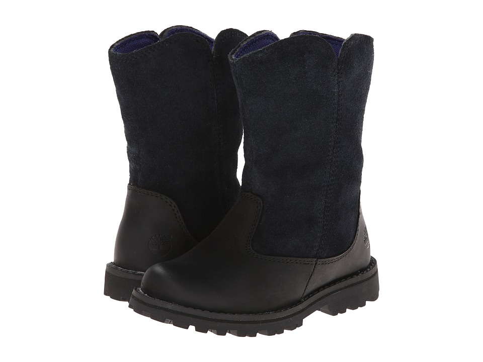 Timberland Kids - Earthkeepers Asphalt Trail Skyhaven Tall Boot (Toddler/Little Kid) (Black) Girls Shoes