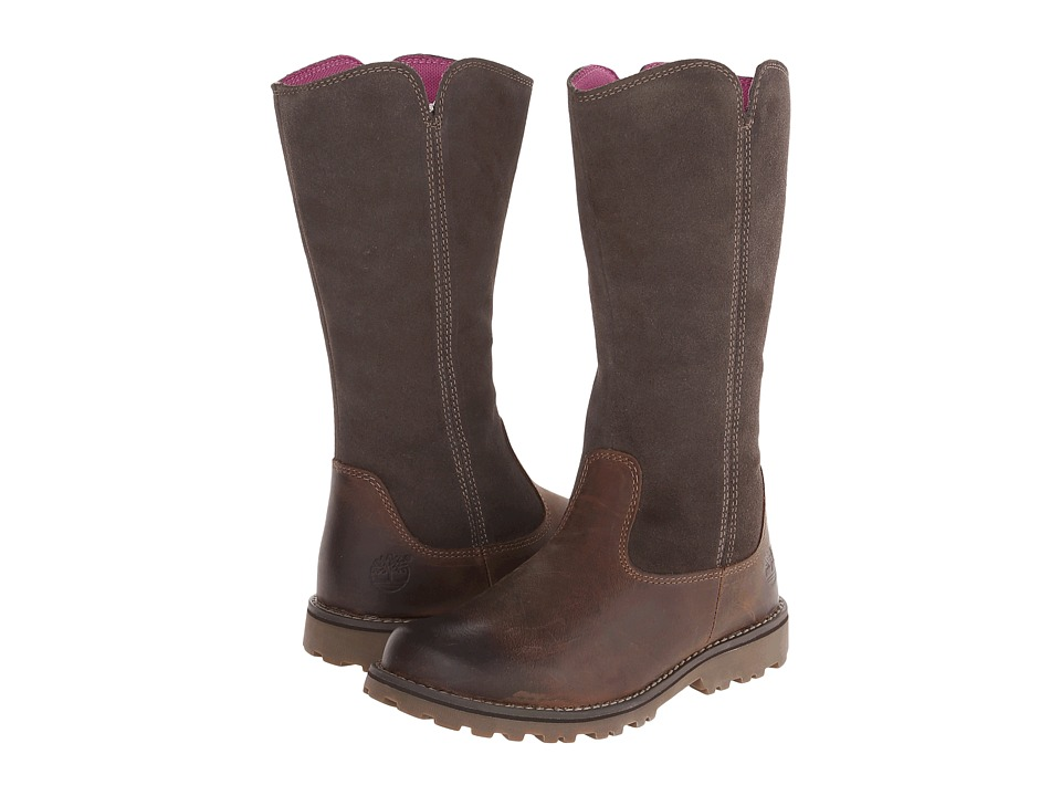 Timberland Kids - Earthkeepers Asphalt Trail Skyhaven Tall Boot (Little Kid) (Brown) Girls Shoes