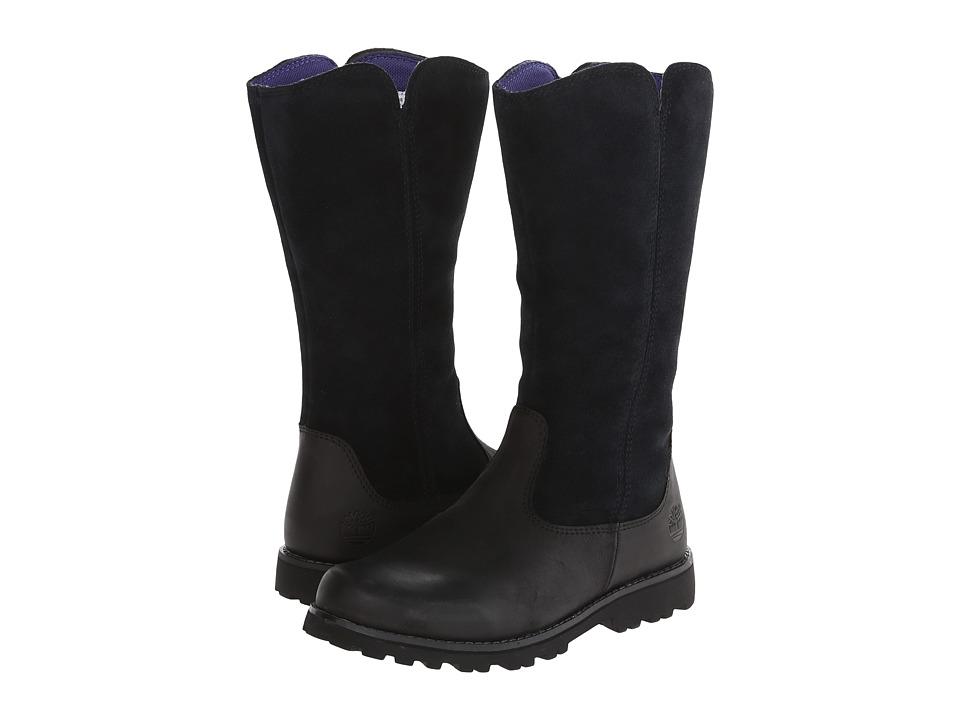 Timberland Kids - Earthkeepers Asphalt Trail Skyhaven Tall Boot (Little Kid) (Black) Girls Shoes