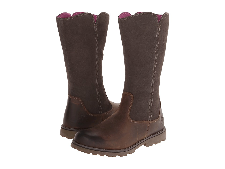 Timberland Kids - Earthkeepers(r) Asphalt Trail Skyhaven Tall Boot (Big Kid) (Brown) Girls Shoes