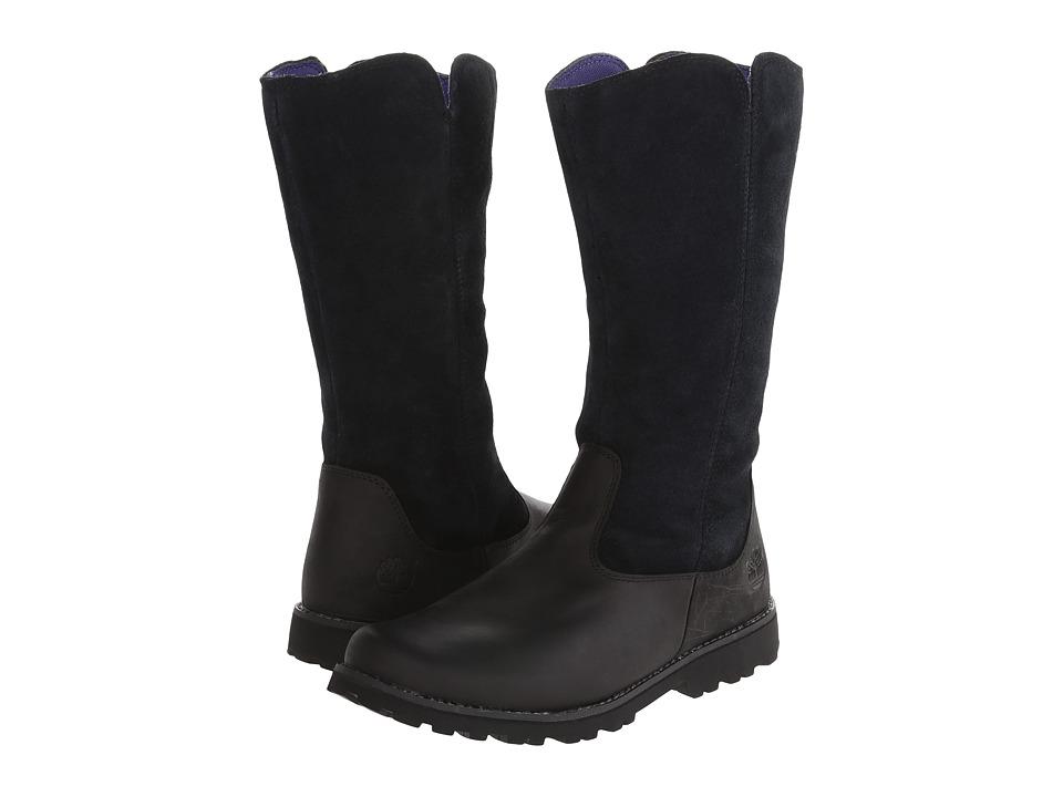 Timberland Kids - Earthkeepers Asphalt Trail Skyhaven Tall Boot (Big Kid) (Black) Girls Shoes