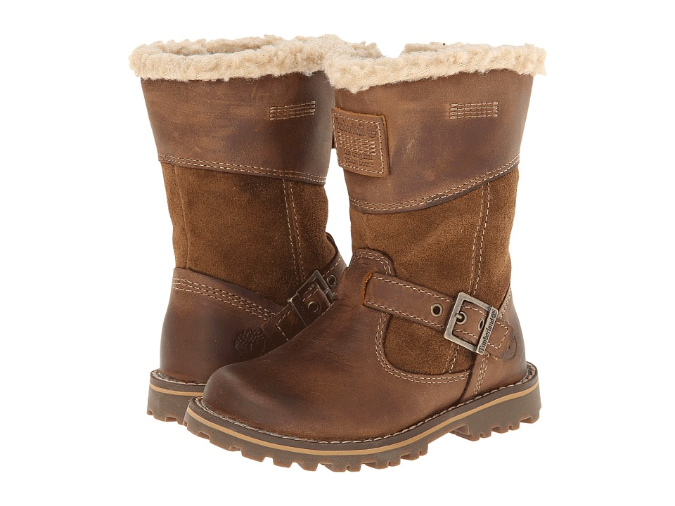 Timberland Kids - Earthkeepers Asphalt Trail Skyhaven Tall Boot w/ Faux Sherling (Toddler/Little Kid) (Bronze/Natural) Girls Shoes