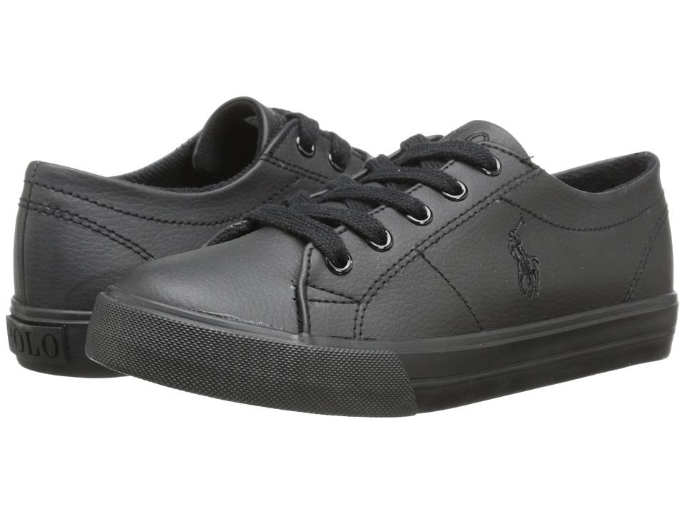 Polo Ralph Lauren Kids - Scholar (Big Kid) (Triple Black Tumbled) Boy's Shoes