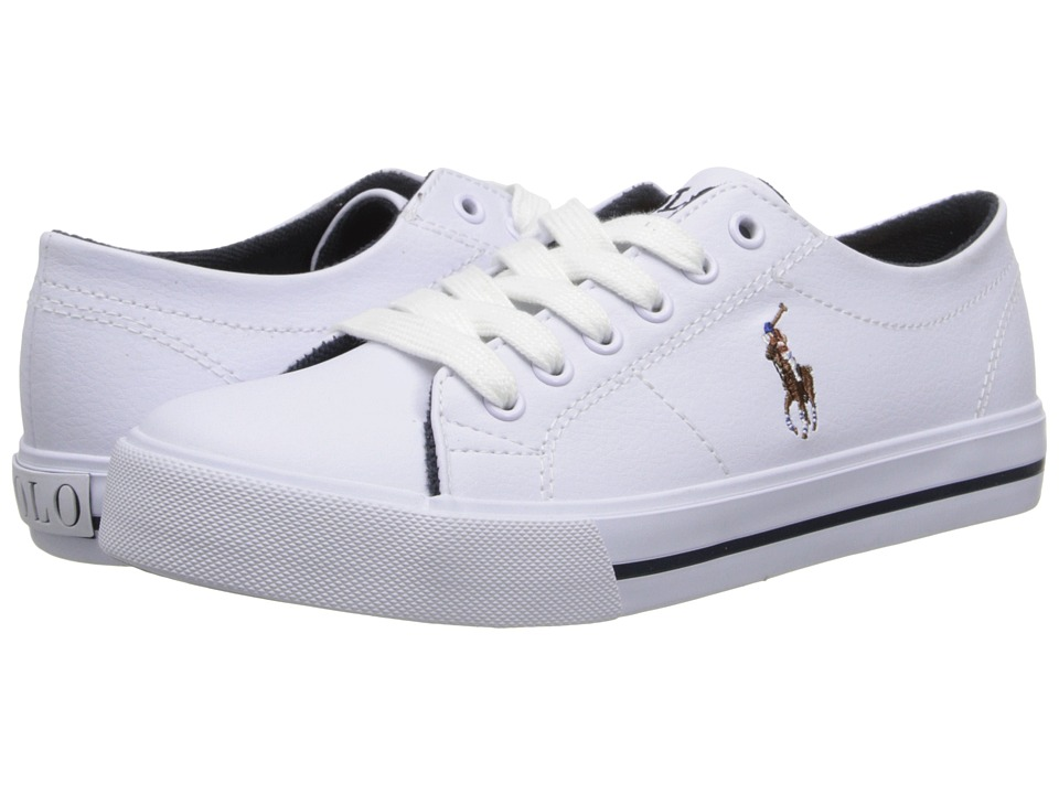 Polo Ralph Lauren Kids - Scholar (Big Kid) (White Tumbled/Multi Pony Player) Boy's Shoes