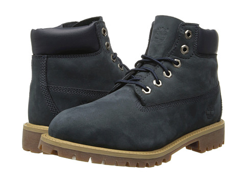 Timberland Kids - 6 Classic Boot (Little Kid) (Navy) Boys Shoes