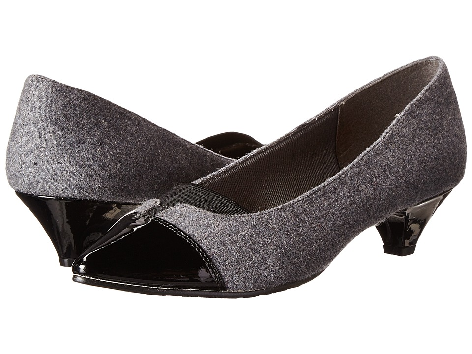 Soft Style - Amiah (Grey Flannel Patent) Women's Shoes