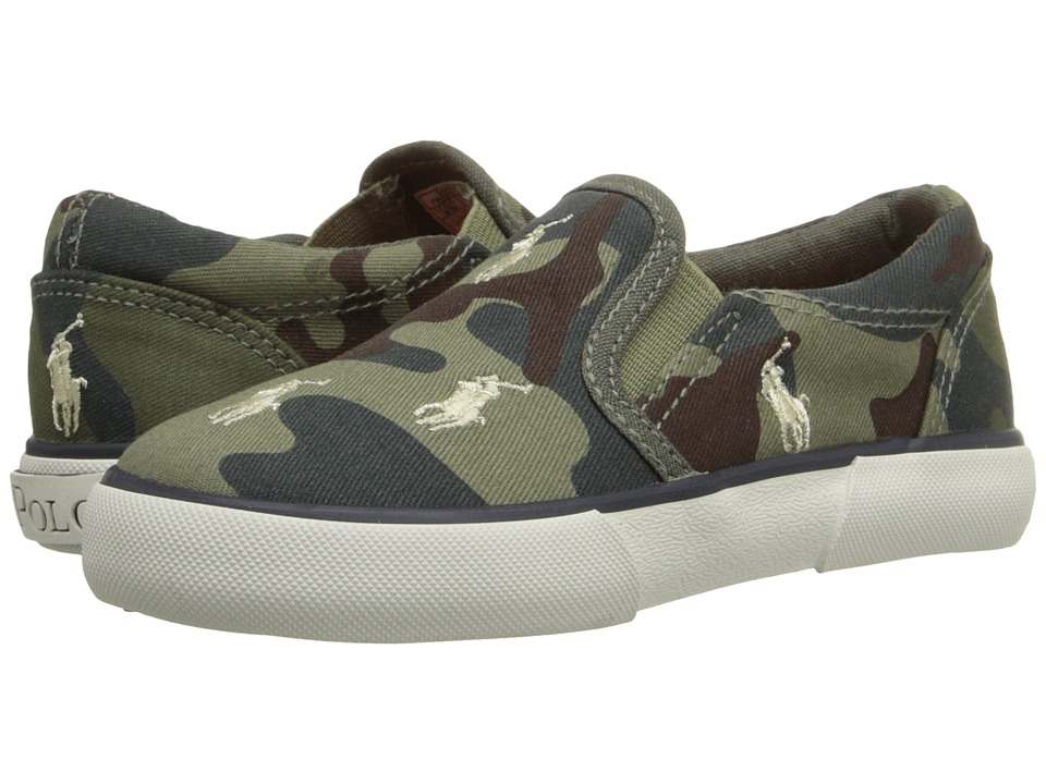 Polo Ralph Lauren Kids - Bal Harbour Repeat (Toddler) (Army Camouflage Canvas/Khaki Ponies) Boys Shoes