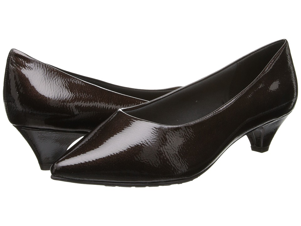 Soft Style - Alesia (Dark Brown Pearlized Patent) Women's 1-2 inch heel Shoes