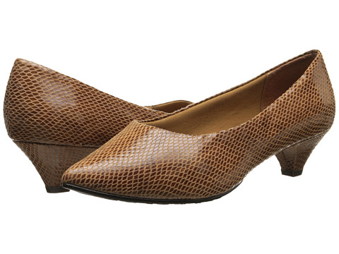 Soft Style - Alesia (Cognac Shiny Snake) Women's 1-2 inch heel Shoes