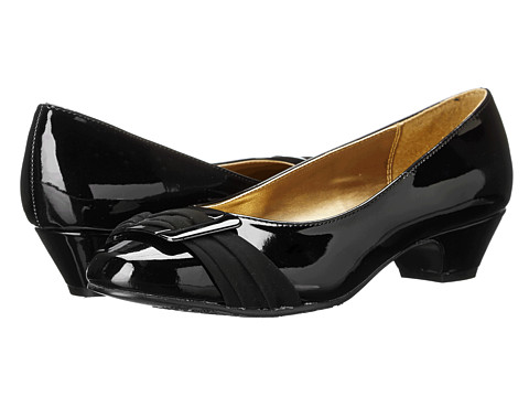 Soft Style - Pleats Be With You (Black Patent/Black Lamy) Women