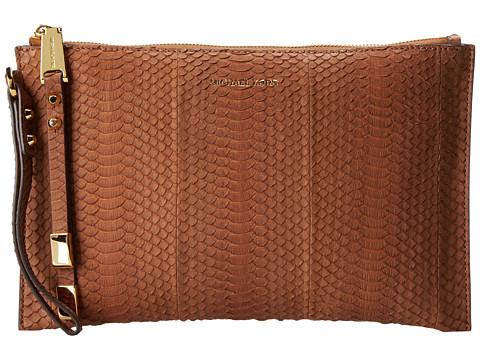 Michael Kors - Harlow Large Zip Clutch (Luggage) Clutch Handbags