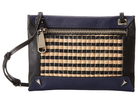 Rafe New York - Alex Striped Jute Xbody (Black) Cross Body Handbags